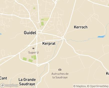 Localisation Centre Communal d'Action Sociale - 56520 - Guidel