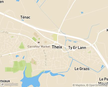 Localisation Centre Communal d'Action Sociale - 56450 - Theix-Noyalo