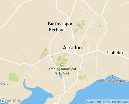 Localisation Centre Communal d'Action Sociale - 56610 - Arradon