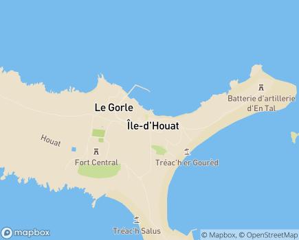Localisation Centre Communal d'Action Sociale - 56170 - Île-d'Houat
