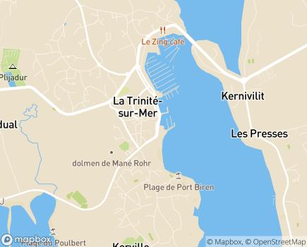 Localisation Centre Communal d'Action Sociale - 56470 - La Trinité-sur-Mer