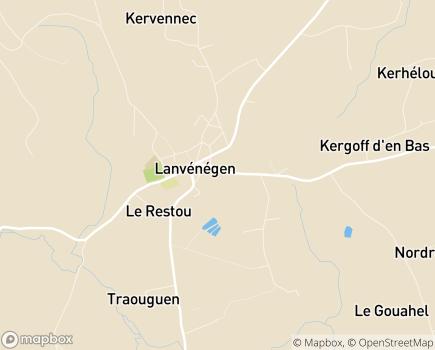 Localisation Centre Communal d'Action Sociale - 56320 - Lanvénégen