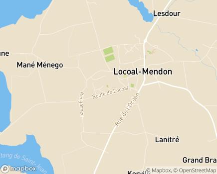 Localisation Centre Communal d'Action Sociale - 56550 - Locoal-Mendon