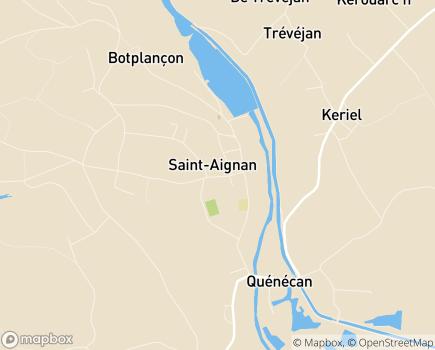 Localisation Centre Communal d'Action Sociale - 56480 - Saint-Aignan