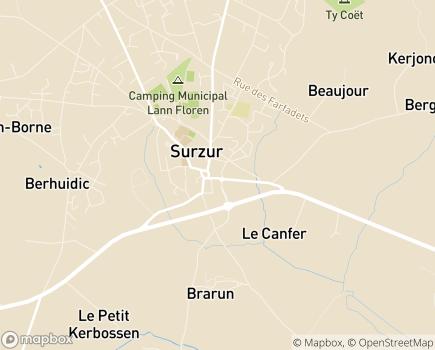 Localisation Centre Communal d'Action Sociale - 56450 - Surzur