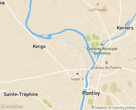 Localisation Hospitalisation à Domicile A.U.B Santé - 56300 - Pontivy