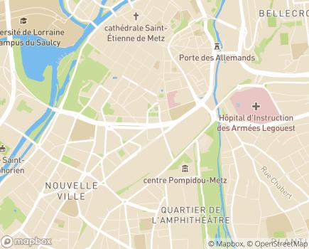 Localisation Union Départementale des Associations Mosellanes de Parents et Amis de Personnes ayant un handicap mental - 57006 - Metz