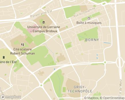 Localisation INJS Institut National de Jeunes Sourds de Metz - 57070 - Metz