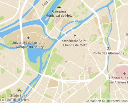 Localisation Centre d'Hébergement - 57000 - Metz