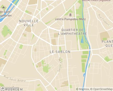 Localisation Foyer de Jeunes Travailleurs Sainte-Constance - 57000 - Metz