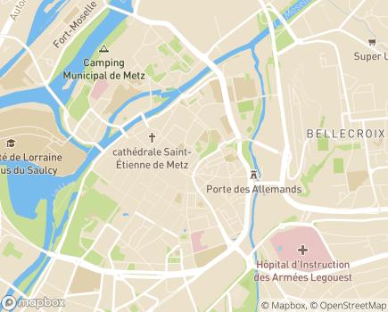 Localisation Foyer des Jeunes Ouvriers - 57000 - Metz