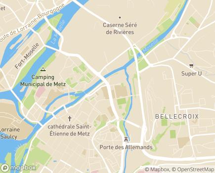 Localisation EHPAD Israelite - 57000 - Metz