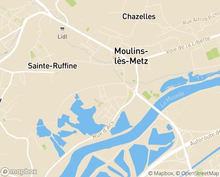 Localisation EHPAD Home de Préville - 57160 - Moulins-lès-Metz
