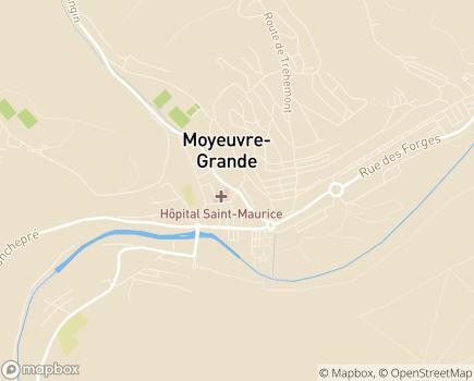 Localisation Hôpital Saint-Maurice - 57250 - Moyeuvre-Grande