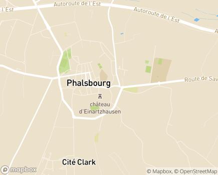Localisation EHPAD Les Oliviers, GROUPE SOS Séniors - 57370 - Phalsbourg