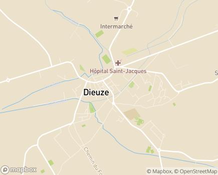 Localisation Maison de Retraite - 57260 - Dieuze