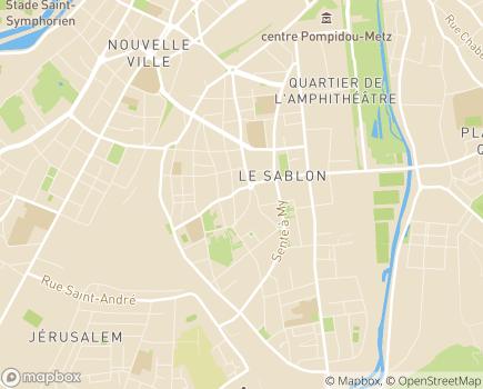 Localisation Azaé Metz - 57000 - Metz