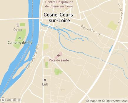 Localisation Centre de Rééducation Pasori - 58200 - Cosne-Cours-sur-Loire