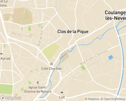 Localisation CEPEP Hortense Bourgeois CRF - 58000 - Nevers