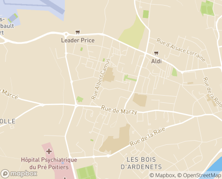 Localisation EHPAD Daniel Benoist - 58000 - Nevers