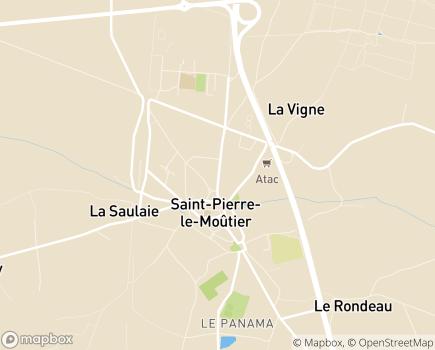 Localisation Centre de Long Séjour - 58240 - Saint-Pierre-le-Moûtier