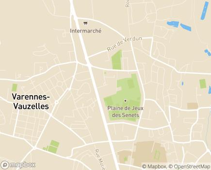 Localisation EHPAD Henri-Marsaudon - 58640 - Varennes-Vauzelles