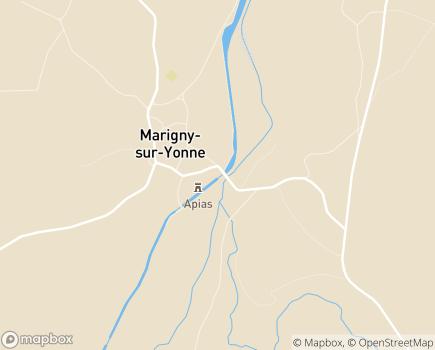 Localisation APIAS - Association pour l'Insertion et l'Accompagnement Social - 58800 - Marigny-sur-Yonne