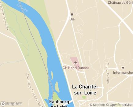 Localisation EHPAD du Centre Hospitalier Henri-Dunant - 58400 - La Charité-sur-Loire