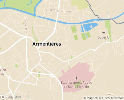 Localisation Centre Communal d'Action Sociale - 59280 - Armentières