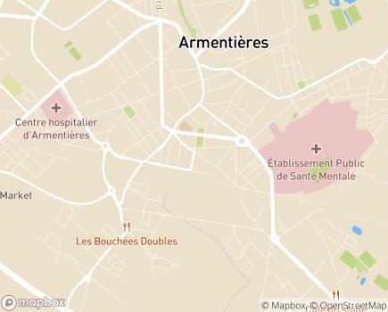 Localisation Carsat Flandres - 59486 - Armentières