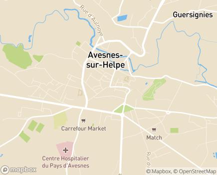 Localisation EHPAD Résidence Simone Jacques - 59440 - Avesnes-sur-Helpe