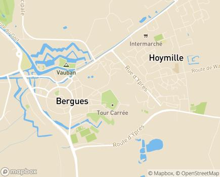 Localisation EHPAD Saint Jean - 59380 - Bergues