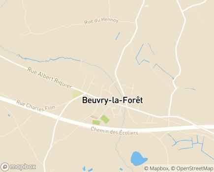 Localisation Résidence Les Tilleuls (Fondation Partage et Vie) - 59310 - Beuvry-la-Forêt