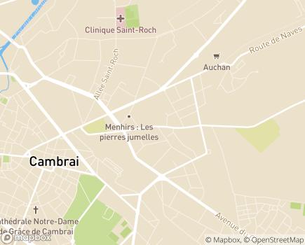 Localisation EHPAD Résidence Les Amandines - 59400 - Cambrai