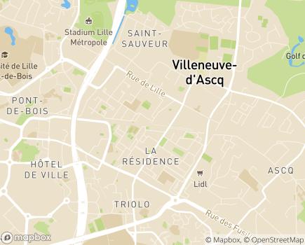 Localisation Hôpital Privé de Villeneuve d'Ascq (Ramsay - Générale de Santé) - 59657 - Villeneuve-d'Ascq