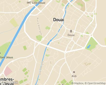 Localisation EHPAD Jean Menu - 59500 - Douai