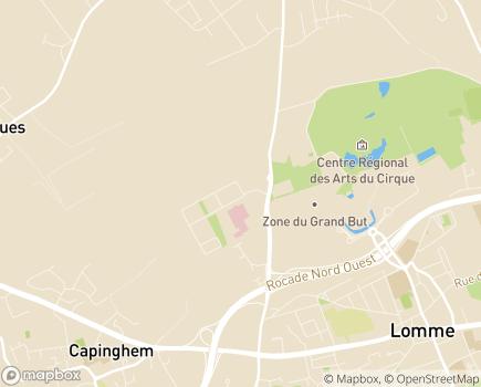 Localisation Maison Médicale Jean XXIII - 59465 - Lomme