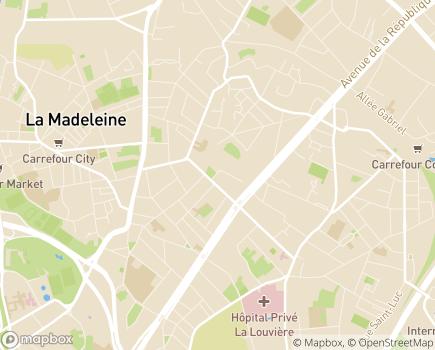 Localisation EHPAD Résidence Saint-Maur - 59110 - La Madeleine