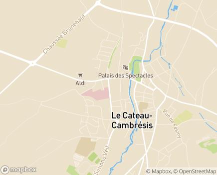 Localisation EHPAD Résidence d'Automne - 59360 - Le Cateau-Cambrésis