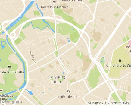 Localisation Association Martine Bernard - 59800 - Lille
