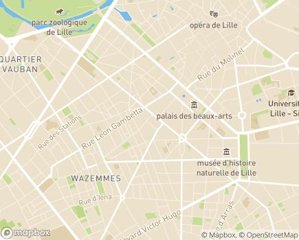 Localisation Caisse d'Allocations Familiales - 59024 - Lille