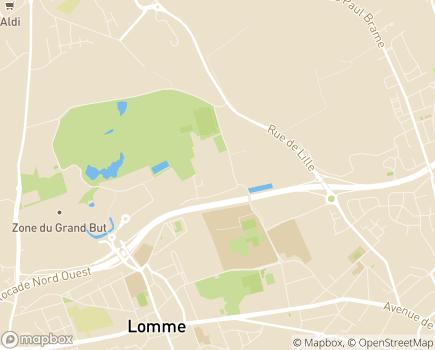 Localisation Clinique de la Mitterie - 59160 - Lomme