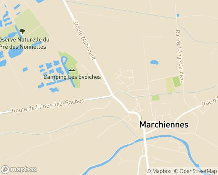 Localisation EHPAD Émile Dubois - 59870 - Marchiennes