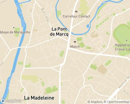 Localisation Korian Les Marquises - 59700 - Marcq-en-Baroeul