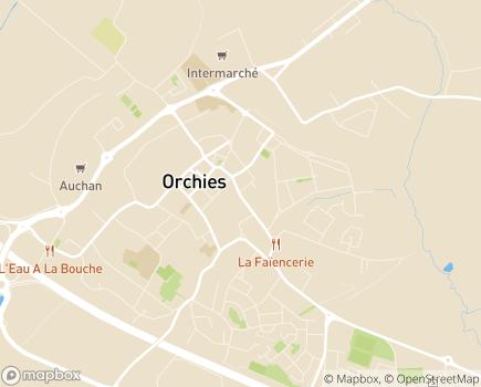 Localisation EHPAD Marguerite de Flandre - 59310 - Orchies