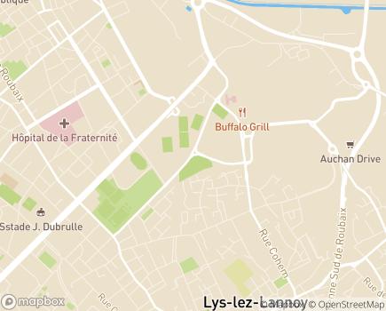 Localisation Soins de Suite et de Réadaptation Polyvalent du Vert Pré - 59100 - Roubaix