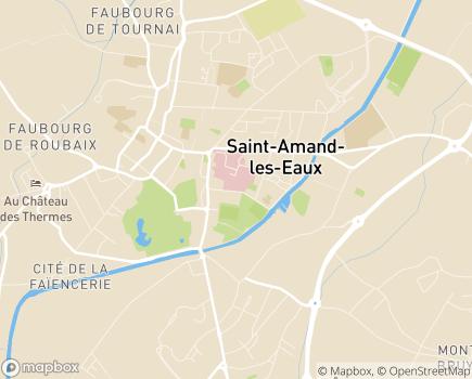 Localisation Centre Hospitalier - 59230 - Saint-Amand-les-Eaux