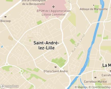 Localisation EPSM de l'Agglomération Lilloise - 59871 - Saint-André-lez-Lille