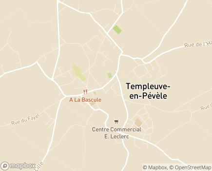 Localisation Association Soins Santé - 59242 - Templeuve