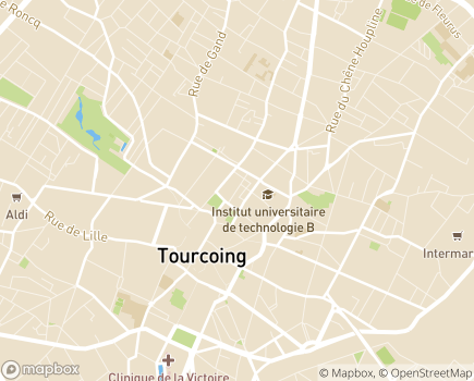 Localisation Centre Communal d'Action Sociale - 59208 - Tourcoing